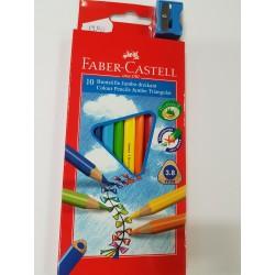 Kredki JUMBO Faber-Castell trójkątne 10 kolorów