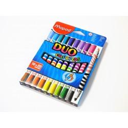 Flamastry dwustronne DUO-10 20 kolorów