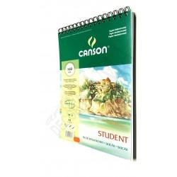 Blok Student A4 CANSON 160g/50ark.spirala