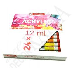 Farby akrylowe Art Creation 24x12ml.