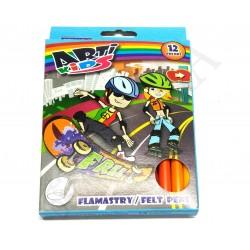 Flamastry 12 kol. ARTI KIDS - pudełko