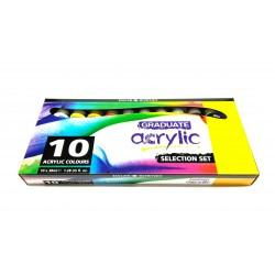 Farby akrylowe GRADUATE 10x38ml.