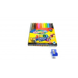 Kredki ołówkowe Jumbo + temperówka