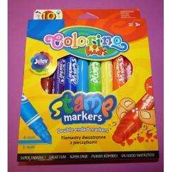 Pisaki pieczątki 10 kolorów COLORINO