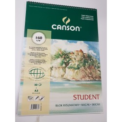 Blok Student A3 CANSON 160g/50ark.spirala