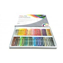 Pastele olejne Pentel 50 kolorów