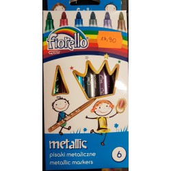 Pisaki metaliczne Fiorello 6szt