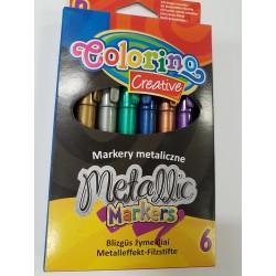 Markery metaliczne 6szt. Colorino