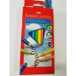 Kredki Faber-Castell trójkątne 20 kolorów