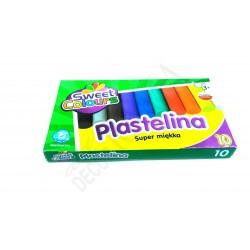Plastelina nietoksyczna SWEET 10 kolorów
