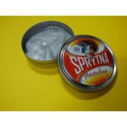 Sprytna plastelina brokatowa- Metaliczna-Srebrna