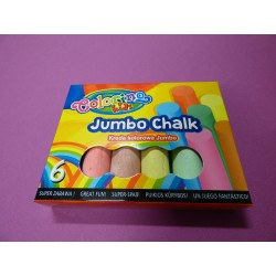 Kreda chodnikowa Jumbo Colorino 6szt