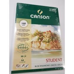 Blok Student A4 CANSON 160g/50ark.szyty