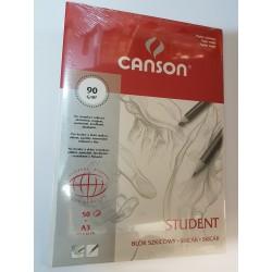 Blok Student A3 CANSON 90g/50ark.szyty